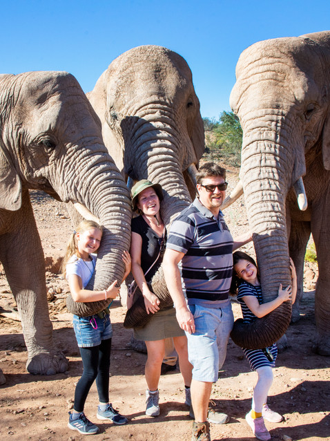 Family with three trunks.