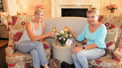 Ladies among the chintz and champagne
