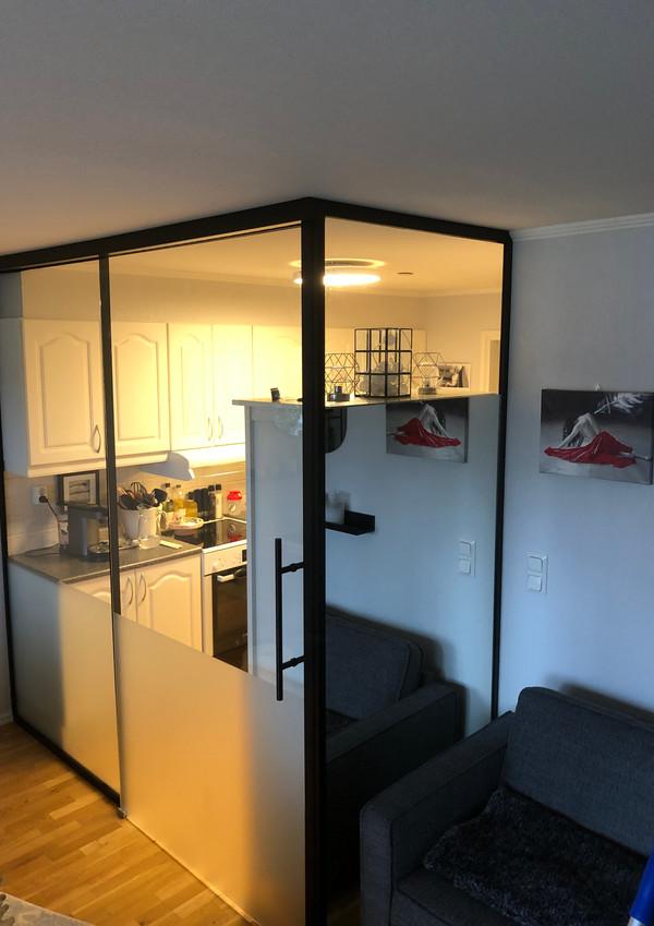 Inndeling av kjøkken og stue