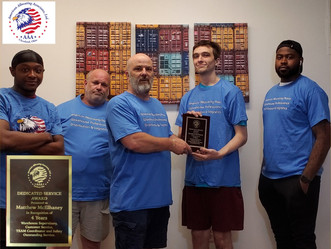 Our team honors Matthew McElhaney Supervisor 4 years of service