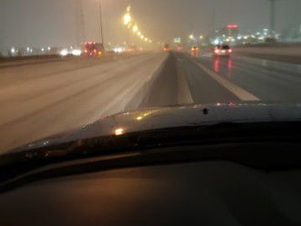 Cleveland's first snow of the season,, traffic was at a  stop so here is the pic. Drive safe!