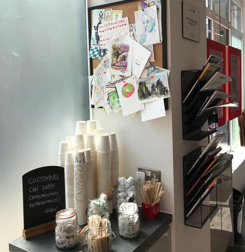 Espace d'expériences GreatArt Londres - café offert