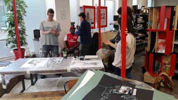 Espace d'expériences GreatArt Londres - workshop