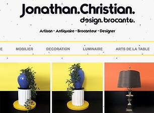 Site vitrine de Jonathan Christian