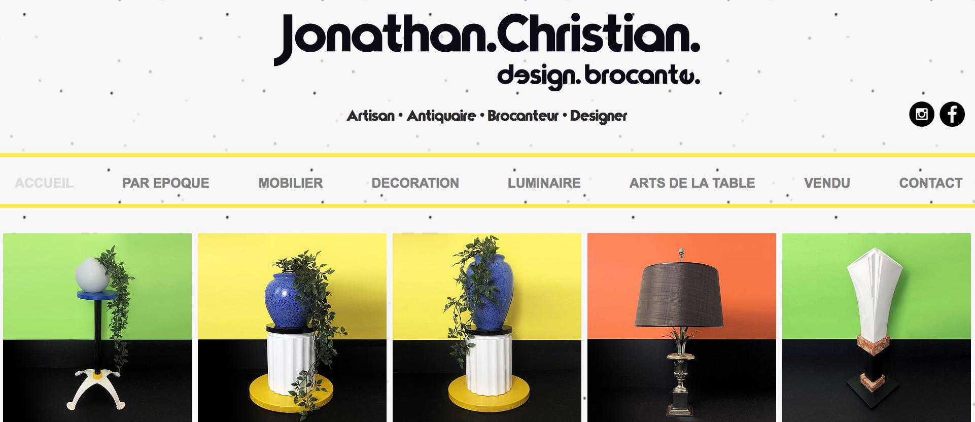 Jonathan Christian - Site vitrine
