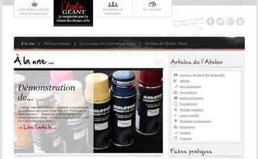 Le magazine en ligne l'Atelier Géant