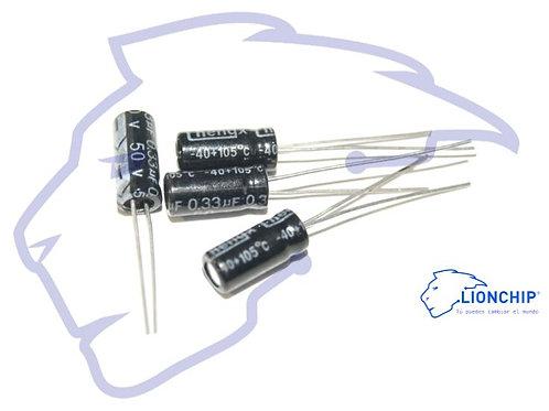 Capacitor Electrolitico 10 piezas 0.22 0.47 1 2.2 10 100 330 470 microfaradios u