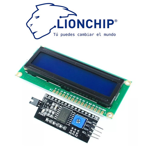 Pantalla Display LCD 16x2 Fondo Azul con I2C