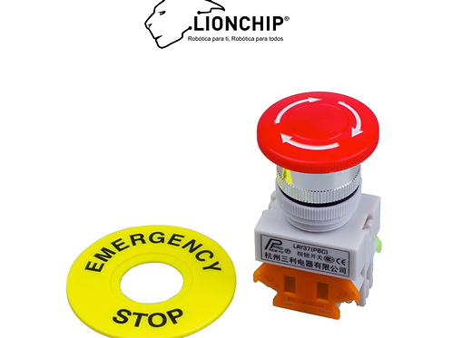 Boton de Paro de Emergencia Rojo NO NC 22mm PLC