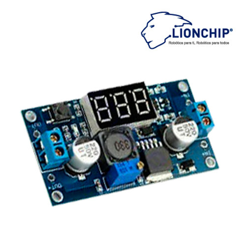 Step Down LM2596 Regulador de Voltaje con Display 4-40 Vdc A 1.25-37v
