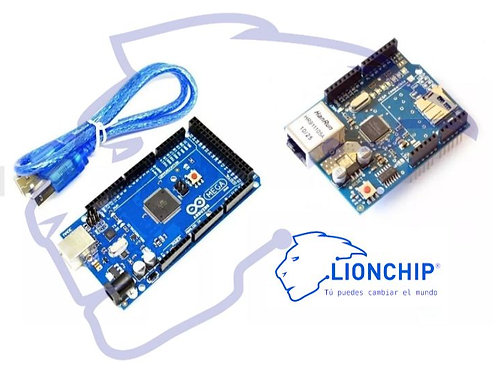 Kit Arduino Mega  y Ethernet Shield