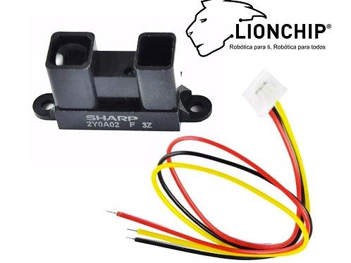 Sensor de Distancia Infrarrojo Sharp Gp2y0a02yk0f 20-150 cm