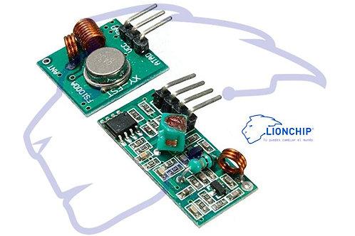 Transmisor y receptor inalámbrico 433MHz