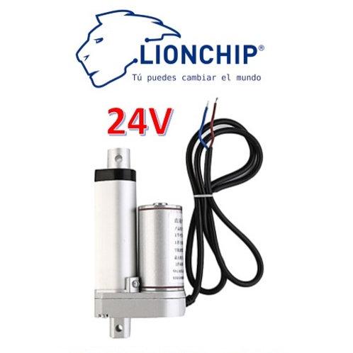 Motor Actuador Lineal 50mm 24V 132Kg Piston Vastago