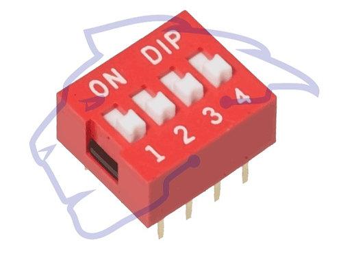 DIP Switch 4 posiciones