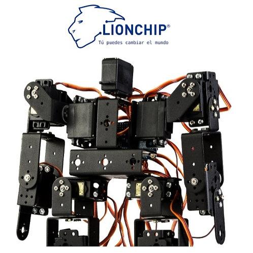 Kit Robot Humanoide 17 DOF con Servos, Cables y Arduino