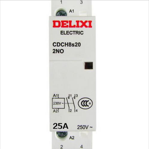 Contactor CDCH8s25 2 Polos 220VAC NO 25A