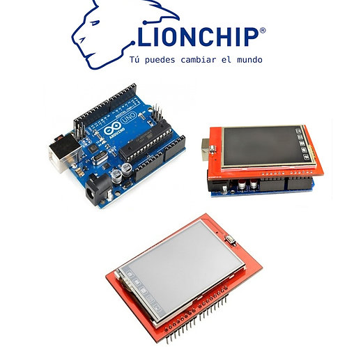 Arduino UNO Con Pantalla TFT 2.4 Pulgadas Color Tactil