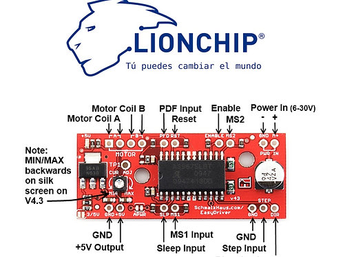 A3967 Easy Driver Controlador Motor a Pasos 0.75A