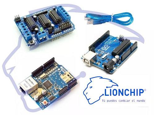 Kit Arduino Motores controlador por Ethernet