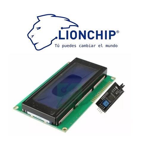 Pantalla Display LCD 20x4 Fondo Azul con I2C