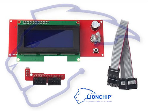 Display Lcd 2004 20X4 Para Impresora 3d Con Cable Ramps 1.4 Reprap