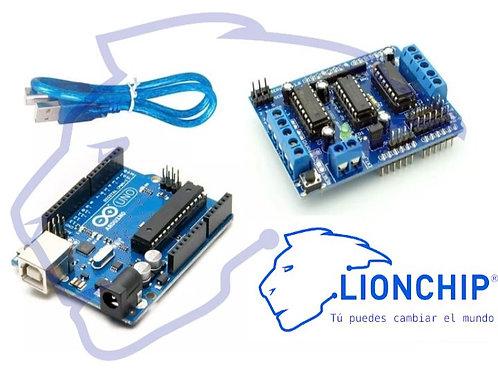Kit Arduino y Motor Shield