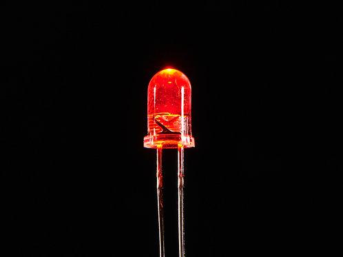 100 Led Color Rojo Alto Brillo 5 mm