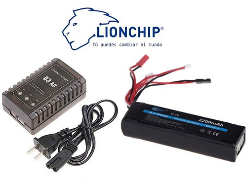 Cargador de Bateria LIPO con Bateria 11.1v 2200 mah