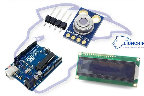Sensor de Temperatura Infrarrojo MLX90614 con Arduino Uno y Pantalla de 16X2