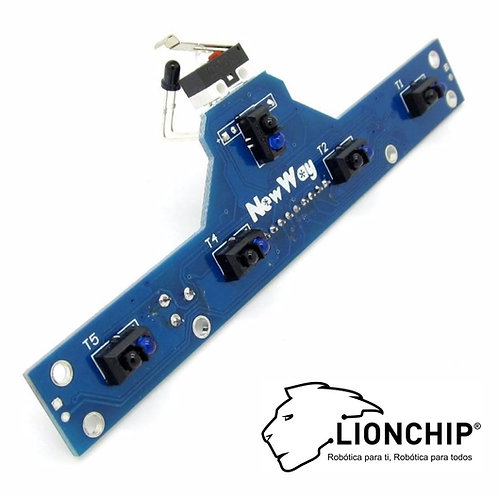 BFD1000 Sensor Infrarrojo Sigue Lineas 5 CH