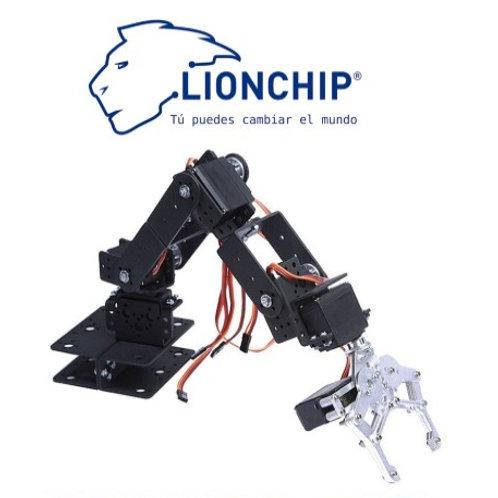 Brazo Robotico de Aluminio con Servomotores