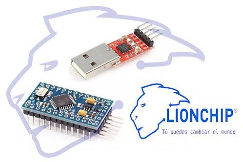 Arduino Pro Mini Con Programador TTL