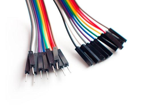 20 Cables Jumper Dupont Macho Hembra
