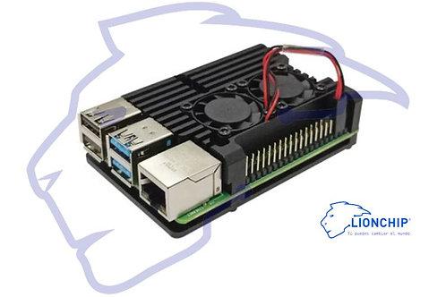 Carcasa Case Para Raspberry Pi 4 B Aluminio y Ventilador