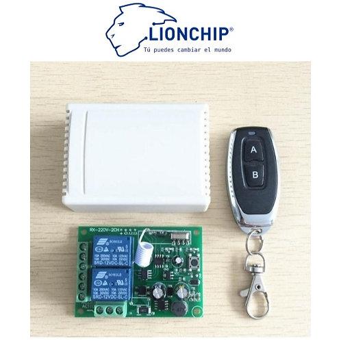 Control Remoto RF con Relevador 2 Ch Inalambrico para Motor Lineal