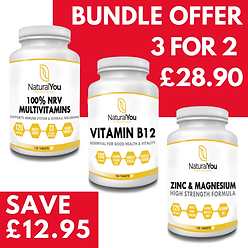 Natural You Multivitamins, Vitamin B12 and Zinc & Magnesium Offer
