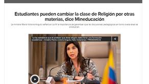 COLEGIO OBLIGA  A ESTUDIANTE A TOMAR CLASE DE RELIGIÓN. MINISTRA DICE QUE NO ES OBLIGATORIO