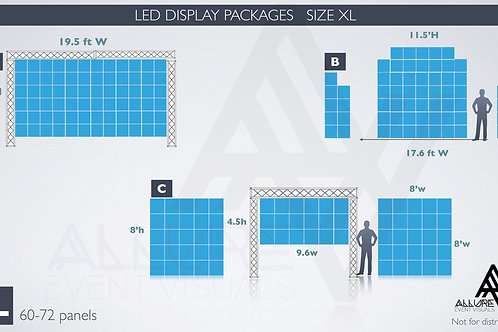LED Video package Extra Large