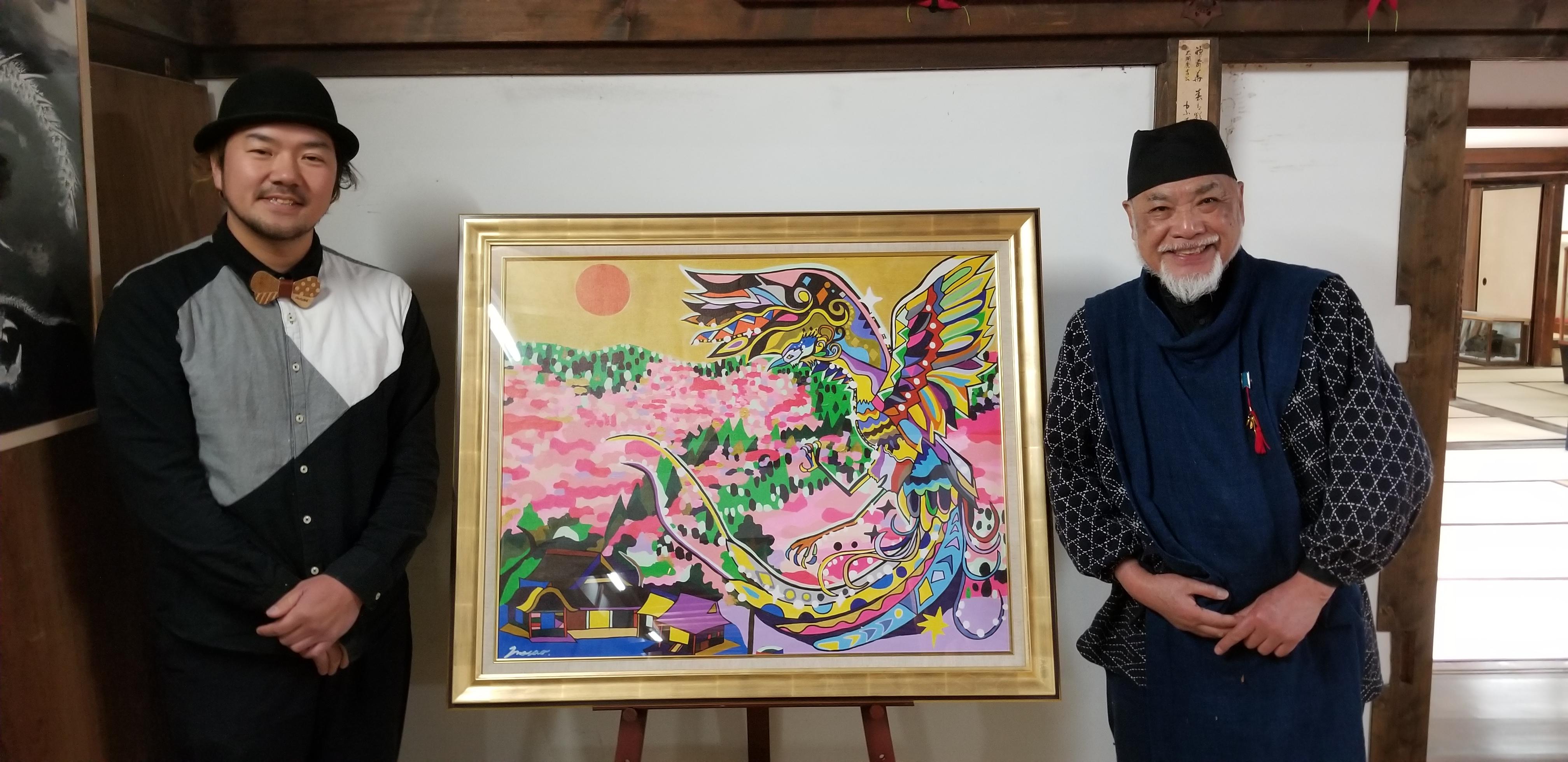 2019 3/27 世界遺産奈良吉水神社にて作品奉納