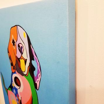 キャンバスの素材・木製パネルの厚みをいかした側面印刷を採用