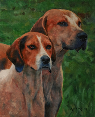 Two Fox Hounds