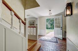 Brick floor in Foyer
