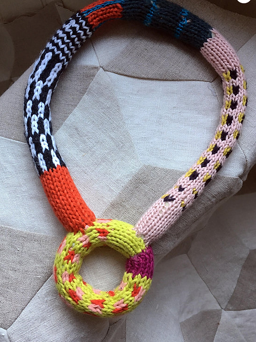 Cartoon Knitted Necklace (chartreuse)