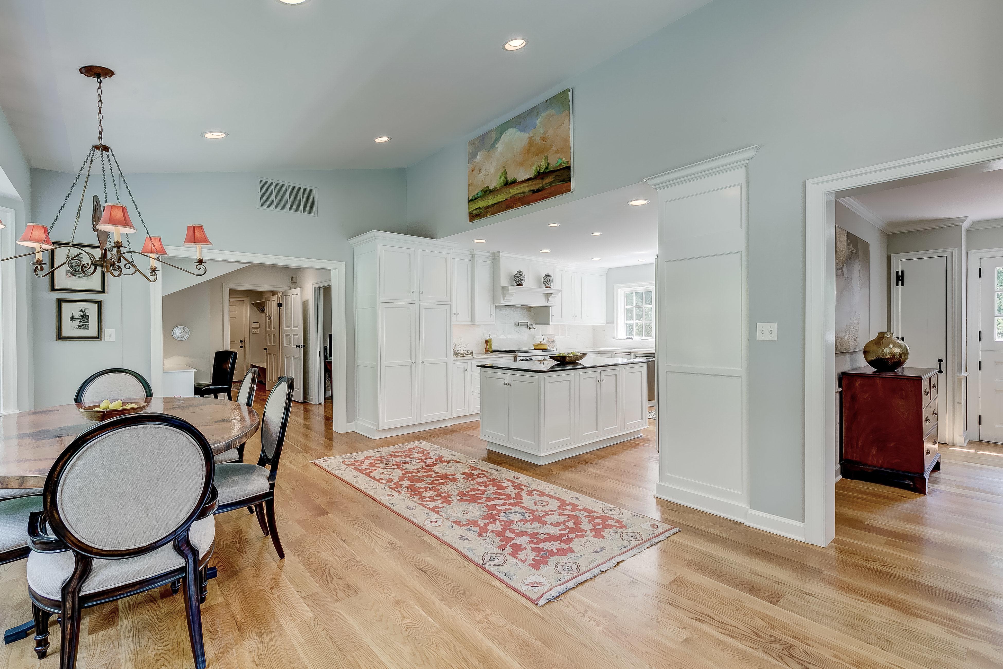 Kitchen and hall to garage