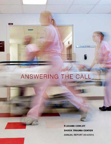 Shock Trauma Annual Report