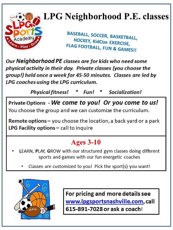 Neighborhood P.E Flyer update Feb 24 202