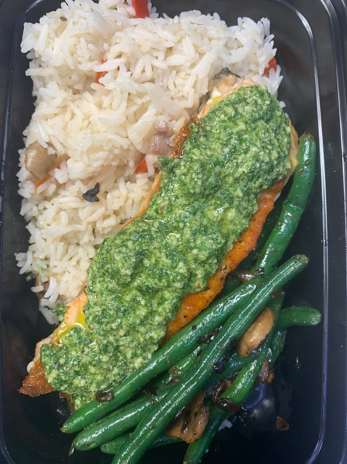 Thu. 6/10/20 - Pesto Salmon