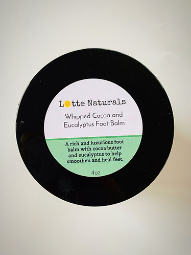 Whipped Cocoa and Eucalyptus Foot Balm