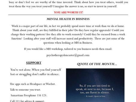 Mental Health Newsletter - Nov 20